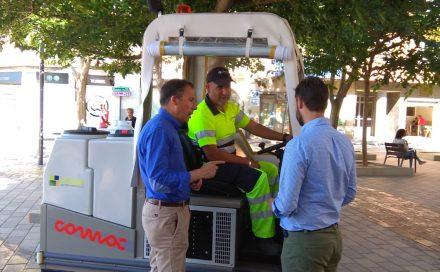 Limusa adapta su flota de vehículos a las necesidades de limpieza de las nuevas vías peatonales
